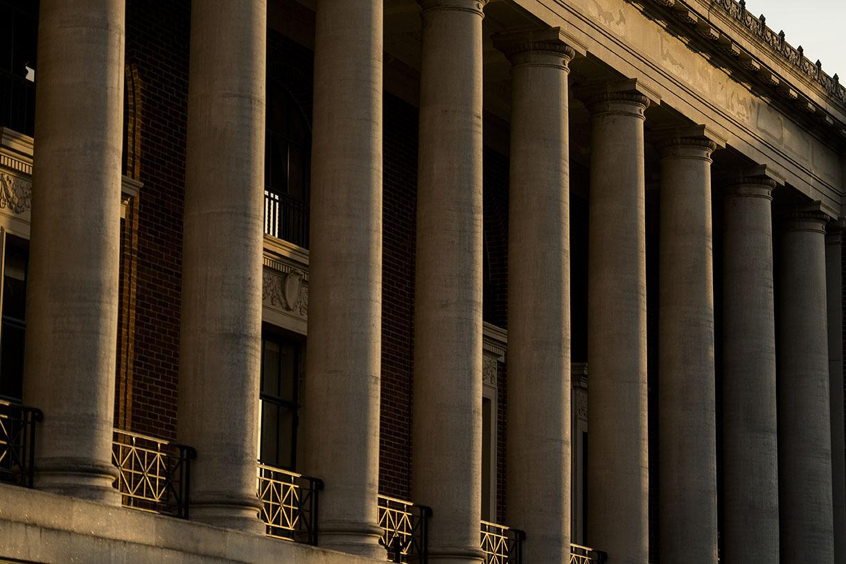 Memorial Union front columns